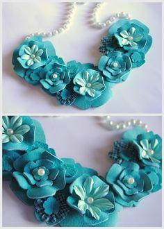 DIY Leather Flower Necklace!
