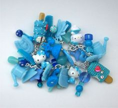 BLUE MONDAY Loaded Gumball Charm Bracelet by SuperVixenBadGirl