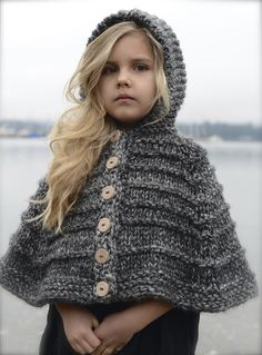 Ravelry: Bairn Cape by Heidi May