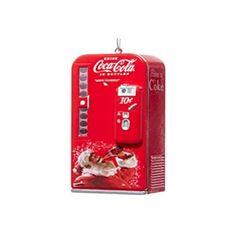 Kurt Adler Coca-Cola Vending Machine with Santa Ornament