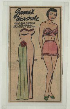 2-1-59 Jane Arden paper doll / eBay