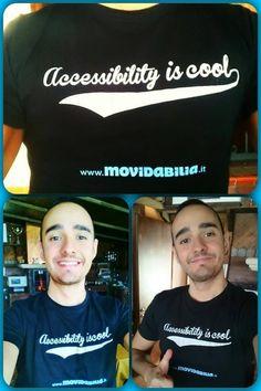 #facce da #Movidabilia! Il nostro #amico Massimo Carrieri posa per la campagna #accessibilityiscool ......perché #accessibilie è #bello!