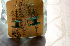 Sewing Earrings by MushroomHouseJewelry on Etsy, $14.00
