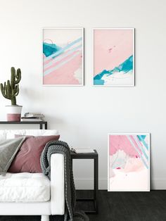 This is SET OF 3 abstract art prints. They are perfect addition to any bedroom, living room or office decor. Their minimalist design gives them sleek and stylish appearance in any modern house. The light pink and blue really compliments each other, while the scribbles add quirky appearance to the design. Scandinavian Style, Thing 1, Woodland Nursery Decor, Animal Decor, Small Art, All Wall, Minimalist Art, Abstract Wall Art, Office Decor