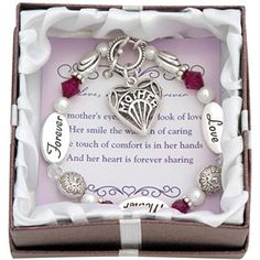 Mother Heart Charm Bracelet