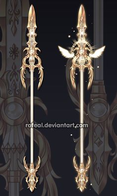 Commissions by Rittik-Designs on DeviantArt Anime Weapons, Sci Fi Weapons, Weapon Concept Art, Fantasy Sword, Fantasy Art, Final Fantasy Weapons, Lance Weapon, Armas Ninja, Cool Swords