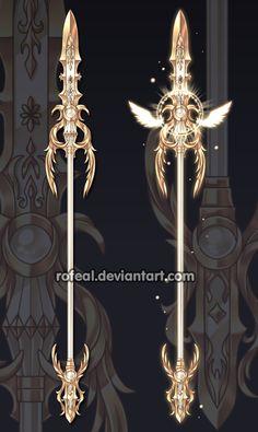 Commissions by Rittik-Designs on DeviantArt Fantasy Sword, Fantasy Art, Lance Weapon, Cool Swords, Sword Design, Anime Weapons, Weapon Concept Art, Magic Art, Fantasy Jewelry