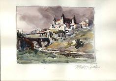"""Robert Wade  Sketchbook Toledo Spain 6""""x8"""" image size"""