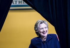 Oct 10. Headline: In Ohio, Clinton draws what appears to be her largest crowd to date - The Washington Post caption: Hillary Clinton earlier Monday in Detroit. (Photo by Melina Mara/The Washington Post)