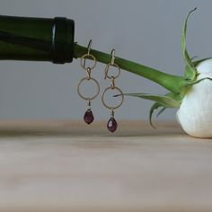 Handmade Amethyst Drop Earring. So perfect!