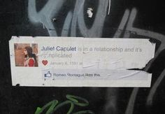 Facebook street art - It's complicated