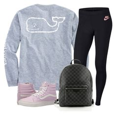 """"""""""" by racheld24 ❤ liked on Polyvore featuring Vineyard Vines, NIKE, Vans and Louis Vuitton"""