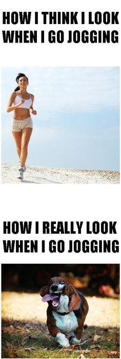 When I go jogging