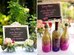#DIY #blackboard #glitter #bridalshower #party #bachelorette #wedding #decor #mrskeiner #flowers #pink #hotpink #craftsbycynabon @nysnow @ericanoelle16