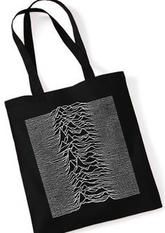 "JOY DIVISION ""Unknown Pleasures"" Stoffbeutel Jutebeutel / Tote Bag Black"