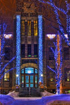 Christmas ~ Hôtel de Ville ~ Saguenay, Quebec, Canada