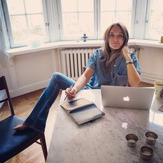 Hunkydory Home, Caroline Sandström Garance, Fashion Editor, Ss 15, Off Duty, Chambray, Blue Jeans, Spring Fashion, What To Wear, Stylists