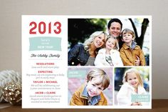 Here's to New Year's Photo Cards by SimpleTe Design at minted.com