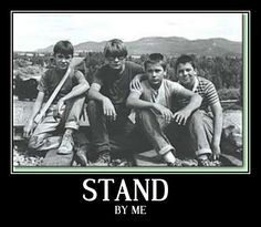 Stand By Me... Seriously one of my all time favorites<3 River Phoenix and Corey Feldman (: