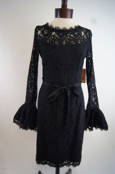 Nue by Shani Lace with Puff Sleeve Dress