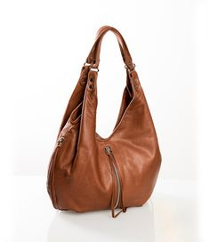 Click Image Above To Buy: Jacki Easlick Jacki Slouchy Hobo Cognac - Jacki Easlick Leather Handbags Cute Handbags, Purses And Handbags, Hobo Purses, Hobo Bags, Casual Bags, Baby Accessories, Things To Sell, Cow Hide, Leather Bags