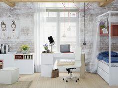 Scandinavian Bedroom Design Dominant With White Color Theme Scandinavian Design Bedroom, Furniture, Scandinavian Bedroom, Twin Canopy Bed, Livingroom Layout, Bedroom Design, Bedroom Layouts, Modular Living Room Furniture, White Bed Frame