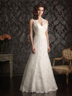 Floor Length Straps Lace With Sash/ Ribbon Sheath/ Column Destination Wedding Gown