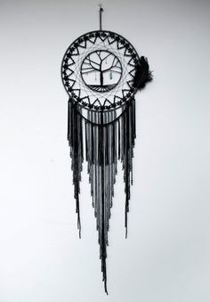 Black Bohemian Tree of Life Dream Catcher
