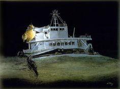 Edmund Fitzgerald Shipwreck | Edmund Fitzgerald Wreck, View No. 5 (Aft forward cabins port)