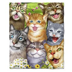 Cats Selfie Fleece Throw Blanket Features Ultra-soft, warm and. Cats Selfie Fleece Throw Blanket Features Ultra-soft, warm and cozy throws are exceptionally durable. Printed with bright vibrant colors Perfect for h. Cat Selfie, Siamese Cats, Cats And Kittens, Timeless Treasures Fabric, F2 Savannah Cat, Art Textile, All About Cats, Buy A Cat, Fleece Throw