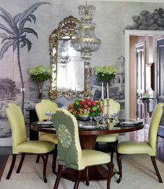 'Early Views of India' design in Eau | de Gournay