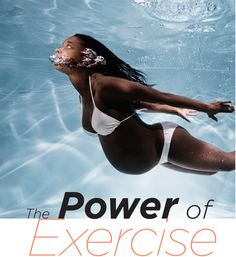 I loved exercising in the water when I was pregnant.