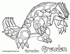Looking for a Coloriage A Imprimer Pokemon Groudon. We have Coloriage A Imprimer Pokemon Groudon and the other about Coloriage Imprimer it free. Earth Day Coloring Pages, Beach Coloring Pages, Coloring Pages For Boys, Free Coloring Pages, Pokemon Groudon, Solgaleo Pokemon, Pokemon Dragon, Pokemon Rare, Shopkins Colouring Pages