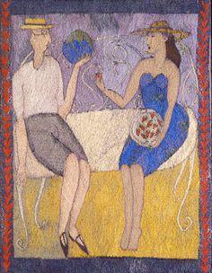L'Offrande du Coeur, Lynne Curran Tapestry