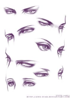 Manga Drawing Tips This is really cool. But is it just me or do almost everyone of these look like a Loki facial expression. Realistic Eye Drawing, Drawing Eyes, Anatomy Drawing, Guy Drawing, Manga Drawing, Drawing People, Drawing Sketches, Eye Drawings, Eye Sketch