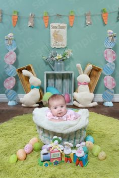 How cute is this, a lot of time went in to making this adorable set :) Easter Pictures, Holiday Pictures, Baby Pictures, Baby Photos, Holiday Photography, Baby Boy Photography, Easter Backdrops, Easter Baby, Foto Baby