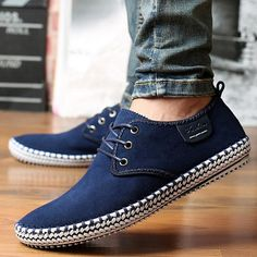 Merkmak Brand Handmade Genuine Suede Leather Men Casual Shoes Luxury Reto Formal Leisure Dress Flat Oxfords Shoes Size 48 From Touchy Style Outfit Accessories ( Blue Shoes Men / 45 ) Sneakers Fashion, Fashion Shoes, Branded Shoes For Men, Casual Shoes, Men Casual, Cheap Mens Fashion, Minimalist Shoes, Trend Fashion, Luxury Shoes