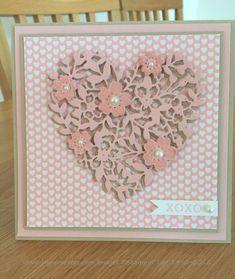Saturday, December 26, 2015  Bloomin' Love by Jayne Mercer - Cards and Paper Crafts at Splitcoaststampers Bloomin' Love, Blushing Bride, Crumb Cake, Bloomin' Heart Thinlet