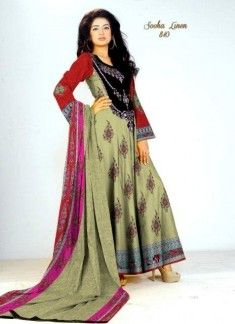 Sooha Linen frocks Collection 2012-13 By Al Hamra Textiles