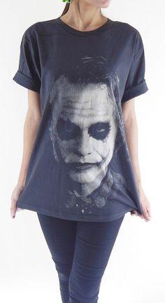Joker TShirt  Joker Heath Ledger Batman The Dark by panoTshirt, $17.00