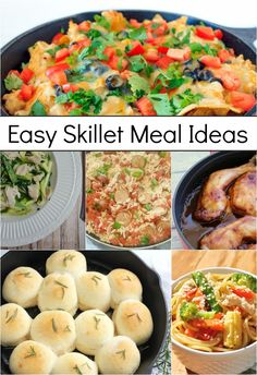 Get ready for some super easy skillet meal recipe ideas! Hi everyone!  I know that I am not alone when I say we really appreciate a simple, but delicious meal in my family.  Life can get so busy, but I really love knowing I have a yummy, healthy meal planned that is a no-fuss recipe. …