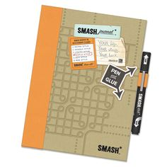 K and Company - SMASH Collection - Journal Book - Simple Orange Folio at Scrapbook.com $12.99 - the beginning of a new addiction!
