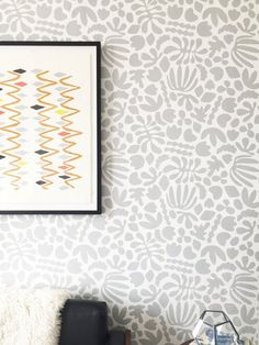 Removable Wallpaper / Muse in Grey / Assorted quantities /