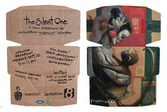 The Silent One solo show in LA invite by memuco , via Behance