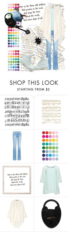 """Hope"" by poetic-flame ❤ liked on Polyvore featuring Music Notes, Paper Source, Frame, Manon Baptiste, The Row and Timberland"