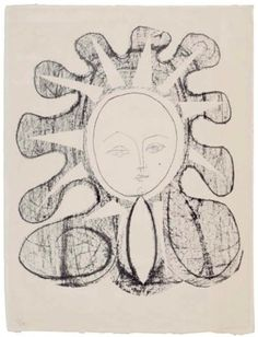 Artwork by Pablo Picasso, Françoise en soleil, Made of lithograph, on Arches paper