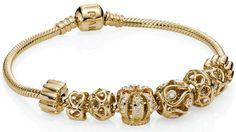 Royalty Pandora Royal Crown 14k Gold Bead With Diamonds Open Lattuce