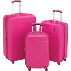 Travel Concepts pink suitcases