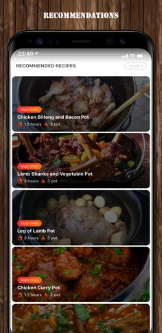 Biltong, Lamb Shanks, App Store, Google Play, Main Dishes, Bacon, Curry, Beef, Apple