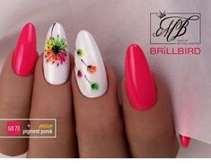 Spring flower nail design Miladies net is part of White Acrylic nails Wedding - Spring flower nail design Miladies net Flower Nail Designs, Nail Designs Spring, Nail Art Designs, Spring Design, Spring Nail Art, Spring Nails, Bright Summer Nails, Bright Nails, Cute Nails